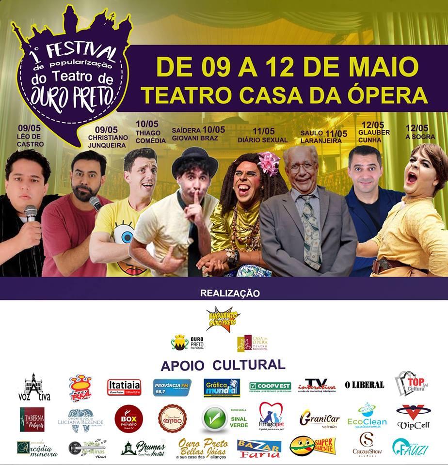 1 Festival da Popularizacao do Teatro de Ouro Preto